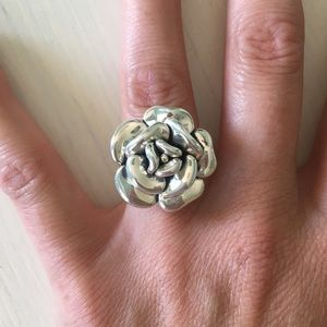 Jewelry - 🌹925 Sterling Silver Rose Flower Statement Ring
